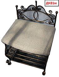 Кованая банкетка с обувной полочкой