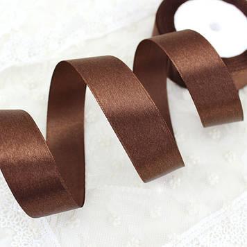 Лента атласная 3000 шоколад 25 мм