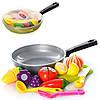 Продукты 685, на липучке, сковорода, досточка, ложка, лопатка, в сетке,31-19-4см