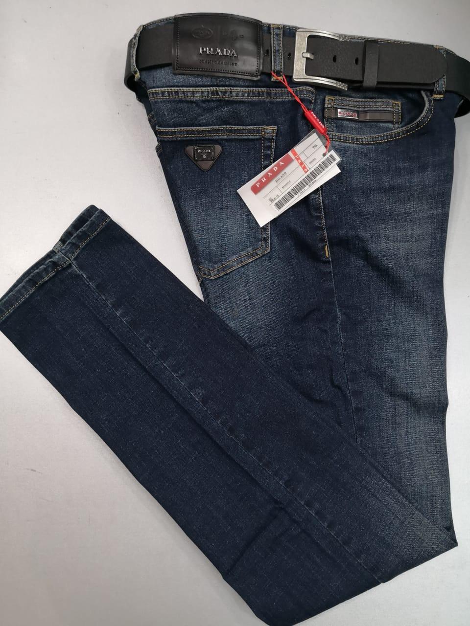 dea31742b9df8 Мужские джинсы Prada D4403 темно-синие - купить по лучшей цене, от ...