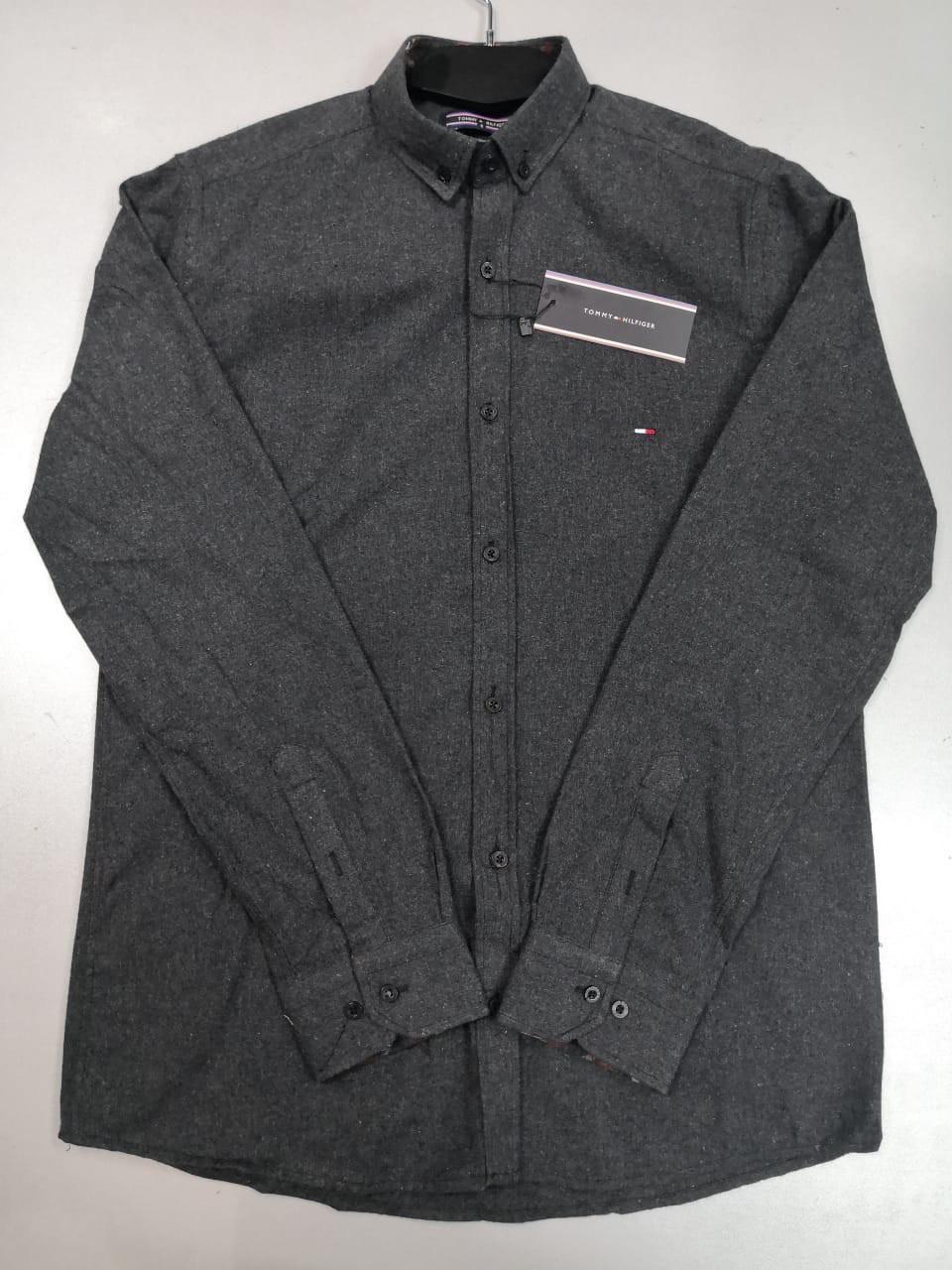 a2fd7577c829 Рубашка мужская Tommy Hilfiger D4431 темно-серая - купить по лучшей цене,  от компании из ...