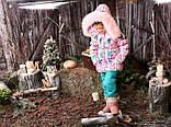 Курточка с натуральным мехом зимняя для девочки тм Моне р-ры 116,122, фото 2