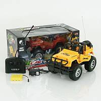 Машина джип детская  на радиоуправлении, аккумулятор, масштаб1:14, резиновые колеса,  в коробке, 2 цвета