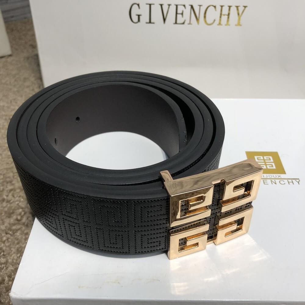 Пояс Givenchy Leather 4G Gold and Silver 18962 черный