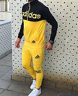 Спортивный костюм Adidas D4325 черно-желтый