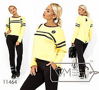 Яркий модный женский двухцветный спортивный костюм