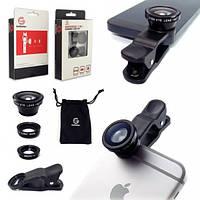 Универсальный 3-в-1 комплект объектива камеры для iPhone 6 Plus, IPad и других мобильных устройств - Широкий угол  x2B Макро  x2B Fisheye (Высокое