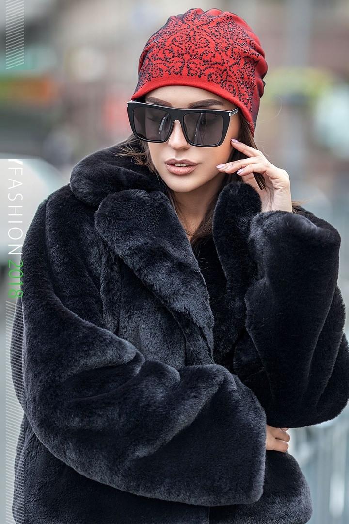 Вязаная шапка под пальто женское 216 в расцветках