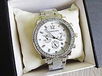 Часы копия Michael Kors -075 серебро наручные женские с камнями , фото 1