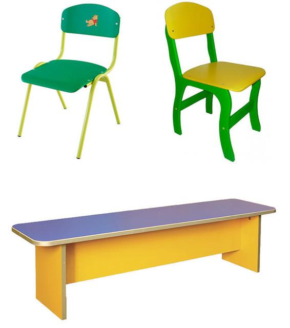 Детские стулья и лавки для детских садов и дошкольных учреждений