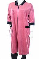 Халат жіночий рожевий з комірцем