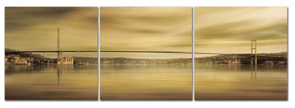"""Картина на стекле """"Городской мост"""""""