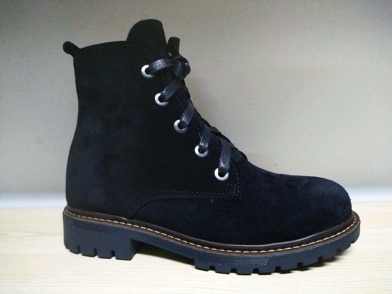 Женские черные замшевые ботинки в стиле Timberland (Зима) - Магазин женской  и мужской обуви ea0eac19361