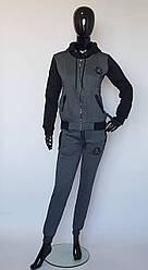 Женский спортивный костюм теплый с капюшоном