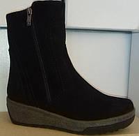 Ботинки женские зима на толстой подошве из натуральной замши от производителя модель СВ17-248