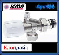 Icma  2-х угловой вентиль со встроенным воздухоотводчиком и с возможность установки термоголовки.
