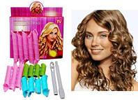 Волшебные БИГУДИ 16 шт для волос любой длины Hair Wavz, бигуди-спиральки