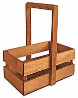 Ящик для цветов деревянный  коричневый
