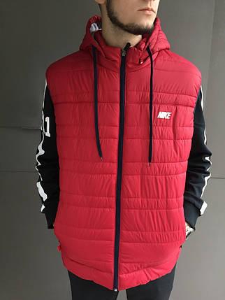 Жилет мужской Nike. Плащевка (Красная), фото 2
