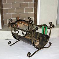 Дровница кованая с ручками, фото 1