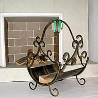Дровница кованая Подставка под дрова малая, фото 1