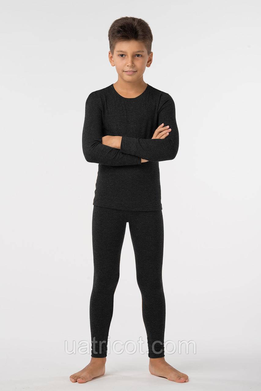 Комплект термобелья для мальчика KIFA КДМ-203 Шерсть Wool Comfort (черный)