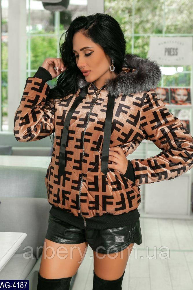 Женская нарядная бархатная куртка в стиле Fendi  продажа 119522553ac59