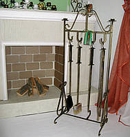Кованый набор для камина №2, набор к мангалу, фото 1