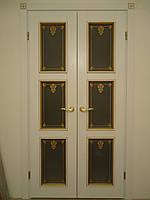 Двери двухстворчатые межкомнатные по индивидуальным размерам.