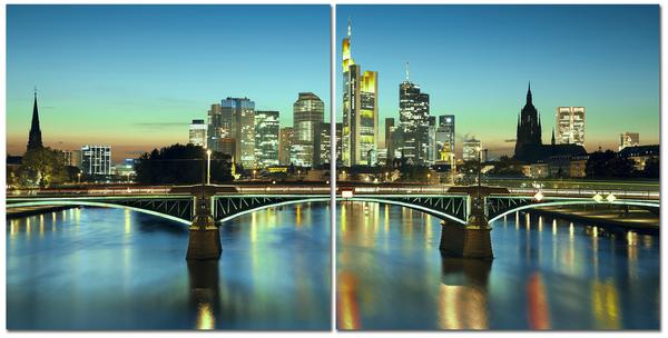 "Картина на стекле "" Мост в мегаполисе"""