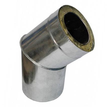 Колено 45° х 160 мм х 220 мм утепленное нерж/цинк (0.8мм/0.5мм) сэндвич, фото 2