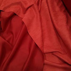 Замша стрейч на дайвинге красная