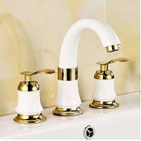 Смеситель белый для умывальника ванную комнату 0513, фото 1