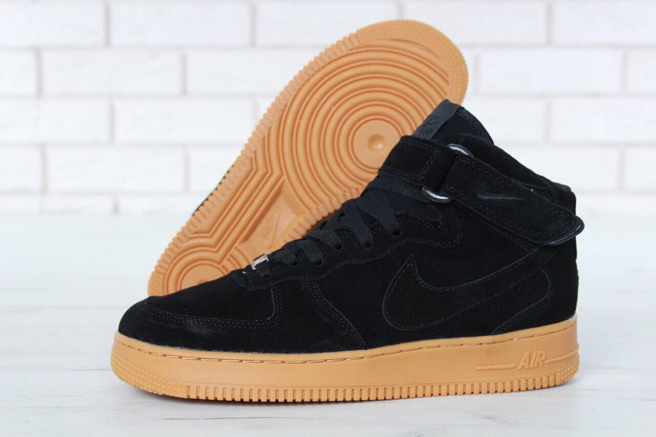 f29178f2 ... Мужские зимние кроссовки с мехом Nike Air Force 1 High Black Gum Winter  , фото 4 ...