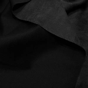 Замша стрейч на дайвинге черная