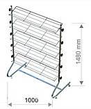Стійка для взуття висотою 1480 мм шириною 1000 мм, фото 2
