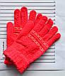 Детские шерстяные перчатки для девочки двойные - длина 16 см, фото 2