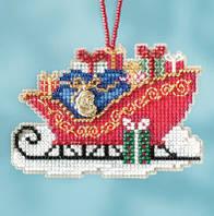 Набор для вышивки Mill Hill Traditional Sleigh Традиционные санки