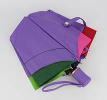 Женский стильный зонт полуавтомат сиреневый радуга Popular 1212-2