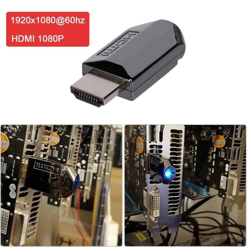 4K HDMI заглушка, эмулятор монитора, адаптер виртуального дисплея