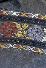 Женская рубашка фланель с вышивкой , фото 3
