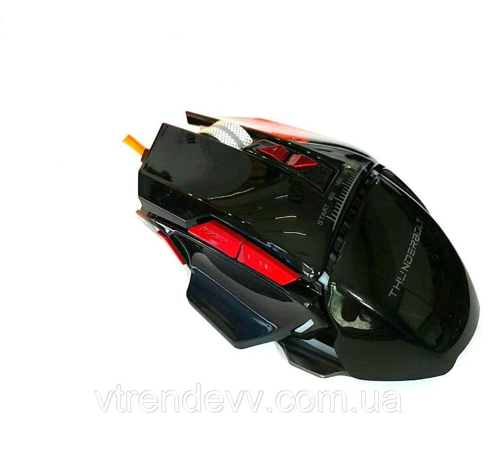 Мышь светящаяся проводная, игровая  THUNDERBOLT GX20