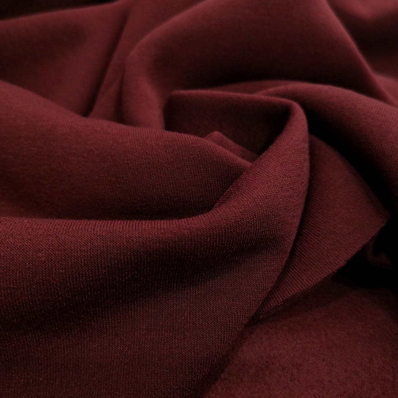 Футер трехнитка с начесом бордовый