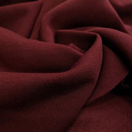 Футер трехнитка с начесом бордовый, фото 2