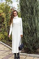 Женское Тёплое платье с мягкой Ангоры рубчик в расцветках