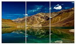 """Картина на стекле """"Озеро в горах"""""""