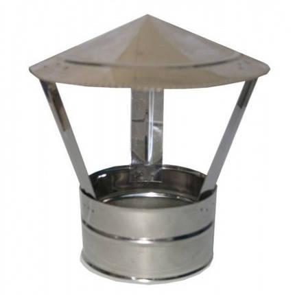Дымоходный зонт 110 мм - грибок нержавеющей стали - дефлектор, фото 2