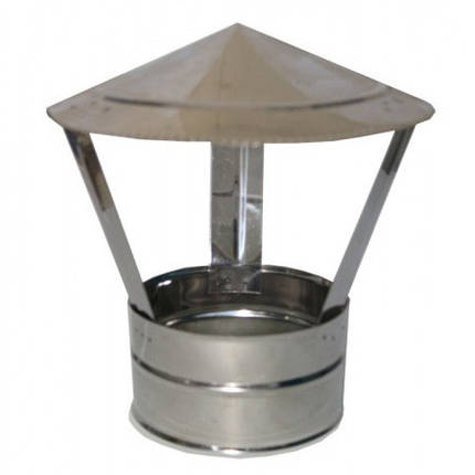 Дымоходный зонт 130 мм - грибок нержавеющей стали - дефлектор, фото 2