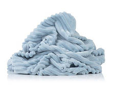 Плюш Minky stripes бледно-голубой