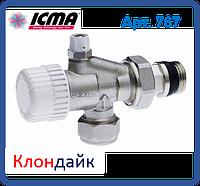Icma 2-х угловой термостатический вентиль со встроенным воздухоотводчиком.